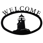 Small Iron Welcome Sign - Lighthouse