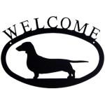 Iron Welcome Sign - Weenie Dog / Weiner Dog / Hot Dog / Dachshund