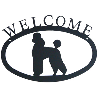Iron Welcome Sign - Fancy Poodle