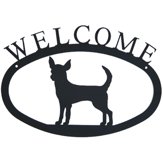 Iron Welcome Sign - Chihuahua
