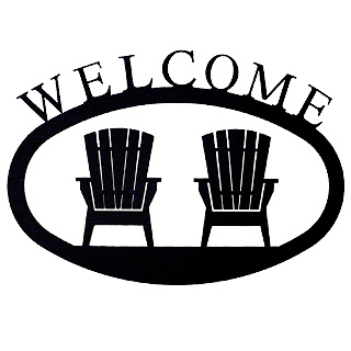 Large Iron Welcome Sign - Adirondack Chairs