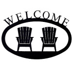 Small Iron Welcome Sign - Adirondack Chairs