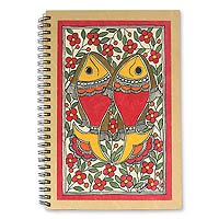 Madhubani painting journal, 'Sea of Flowers'