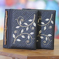 Pandanus journals, 'Dancing Leaves' (set of 2)