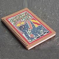 Madhubani painting journal, 'Royal Elephant'