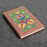 Madhubani painting journal, 'Wonders of Nature'