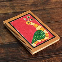 Journal, 'Red Gond Peacock'