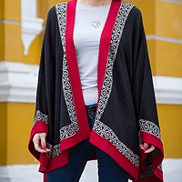 100% alpaca cape, 'Baroque Andes'