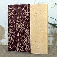 Saa paper journal, 'Brown Floral'
