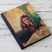 Handmade paper journal, 'Mughal Princess'