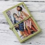 Handmade paper journal, 'Rajasthani Muses' (medium)