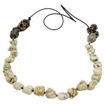White Turquoise Necklace with Yarn Nests