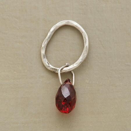Sterling Faceted Birthstone Charm - Garnet