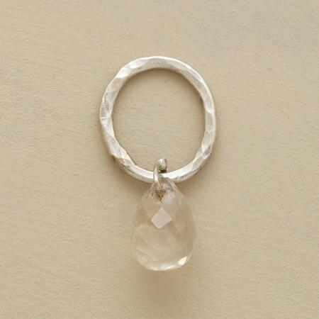 Sterling Faceted Birthstone Charm - Moonstone
