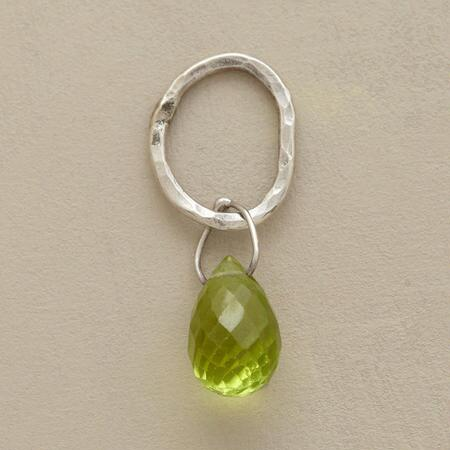 Sterling Faceted Birthstone Charm - Peridot