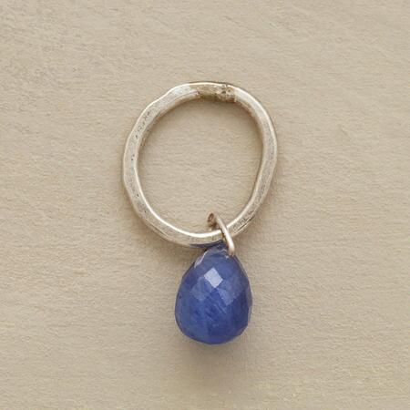 Sterling Faceted Birthstone Charm - Sapphire