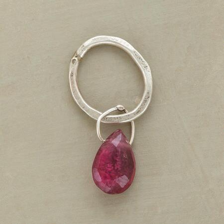 Sterling Faceted Birthstone Charm - Tourmaline