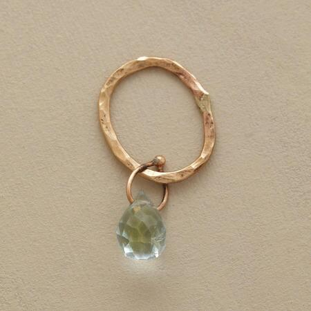 Gold Faceted Birthstone Charms - Aquamarine