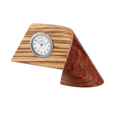 Zebrawood Ribbon Clock