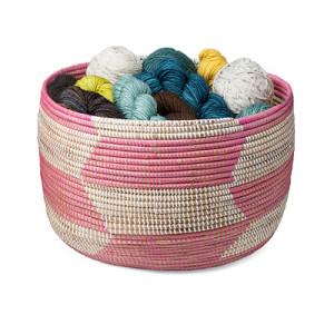 Handmade Herringbone Knitting Basket