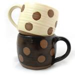 Handmade Polka Dot Mug Set