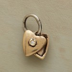 Gold Heart Locket Charm