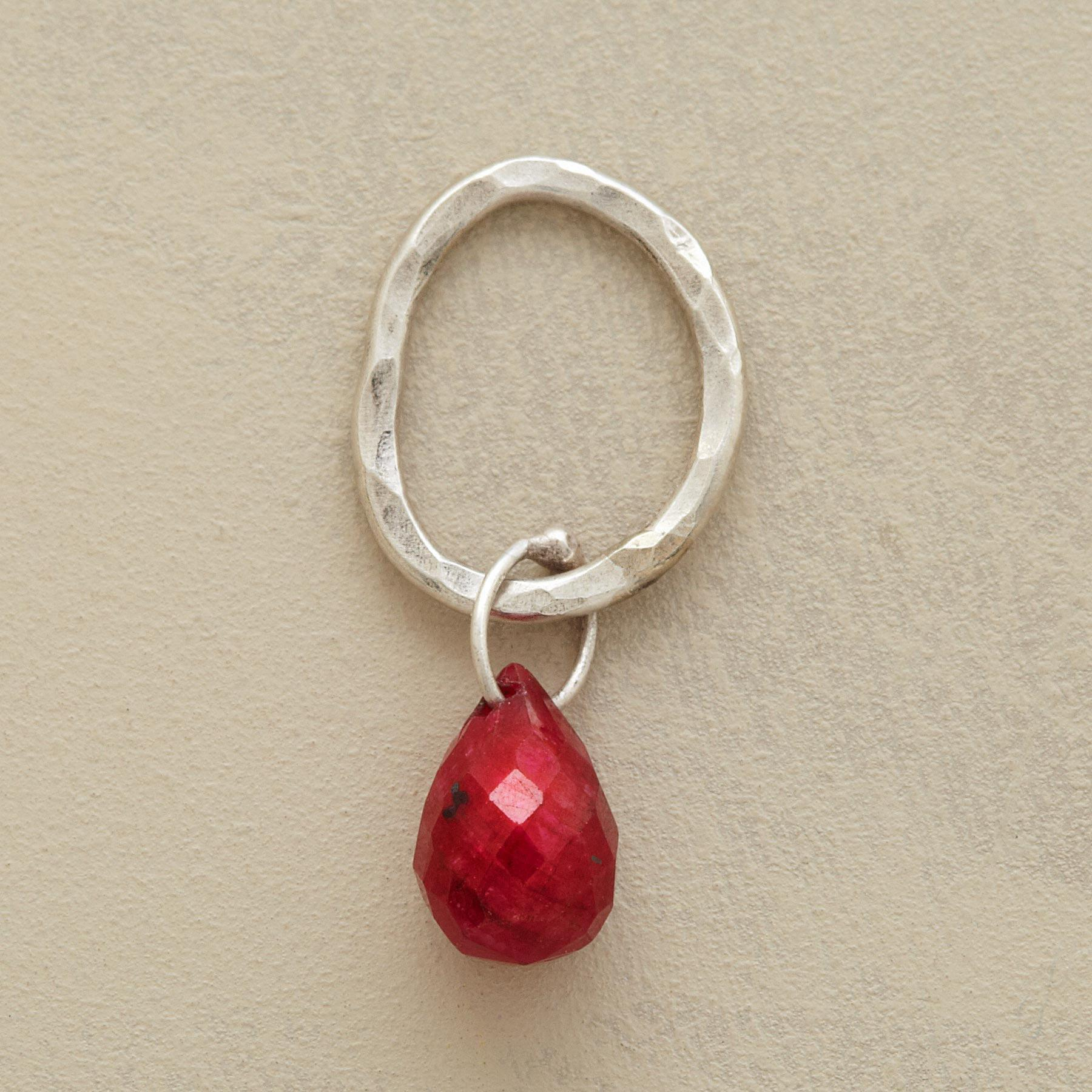 Sterling Faceted Birthstone Charms - Ruby