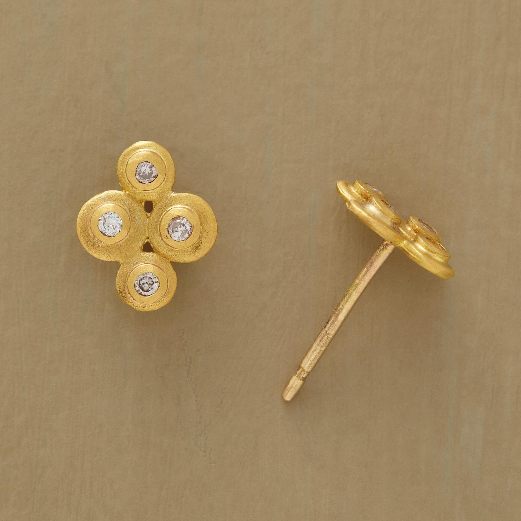Diamond Disk Earrings