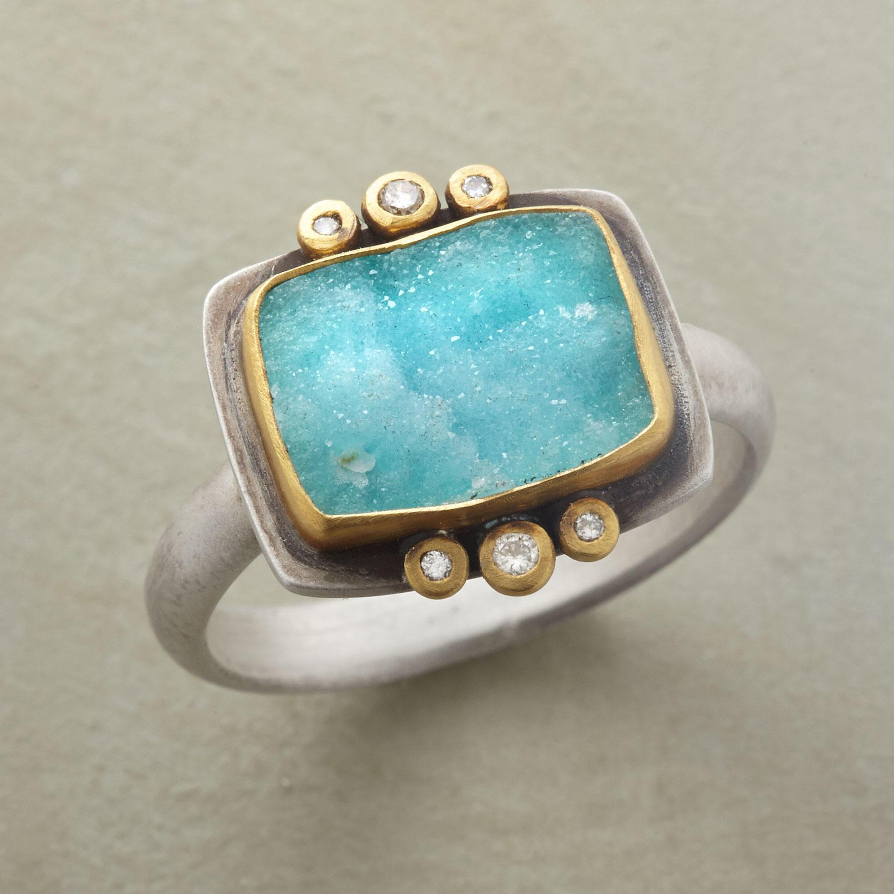 Uniquely Chrysocolla Ring
