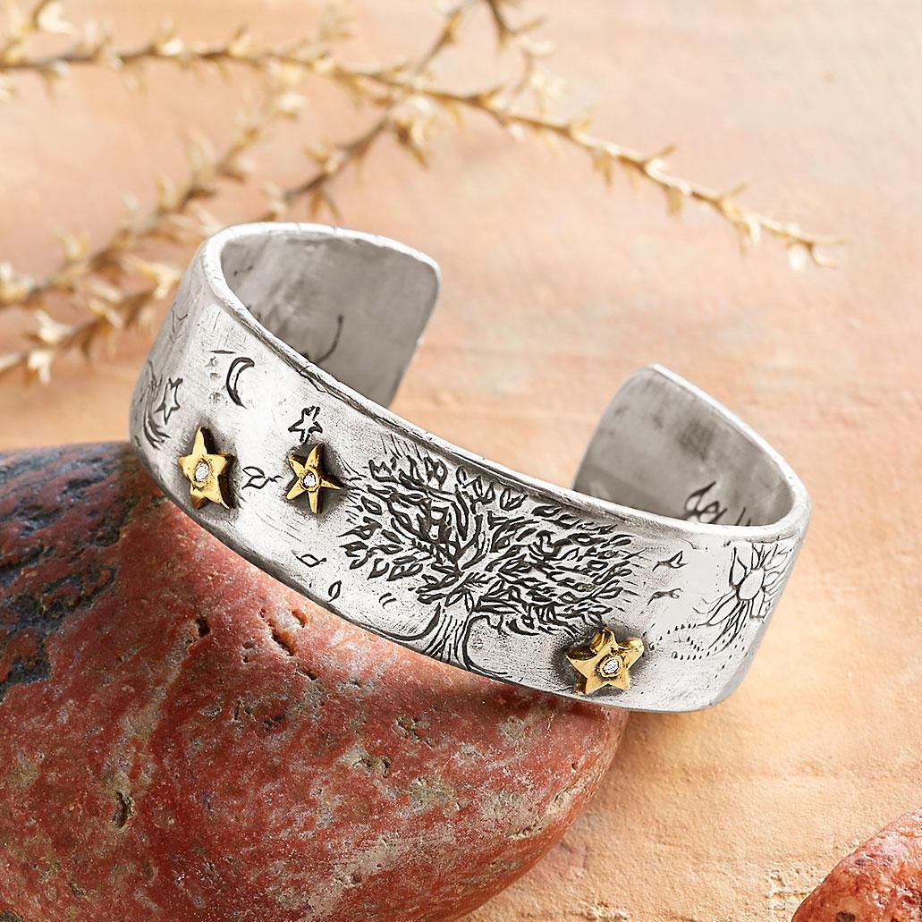 Starry Night Diamond Cuff Bracelet