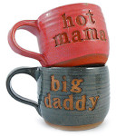 Hot Mama and Big Daddy Handcrafted Mugs, Set of 2