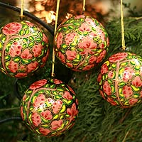 Ornaments, 'Season of Love' (set of 4)