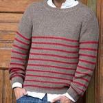 Men's alpaca blend sweater, 'Tan Cuzco Casual'