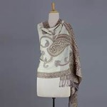 Jamawar wool shawl, 'Dawn Delight'