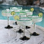 Margarita glasses, 'Eco Happy Hour' (set of 6)