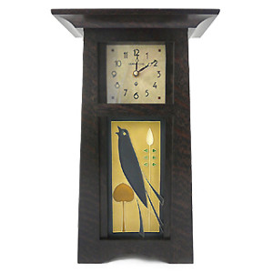 Tall Craftsman Clock with Songbird Tile