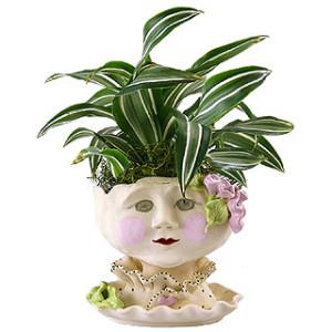 Victorian Lovelies Head Planter - Mornin' Gloria Version