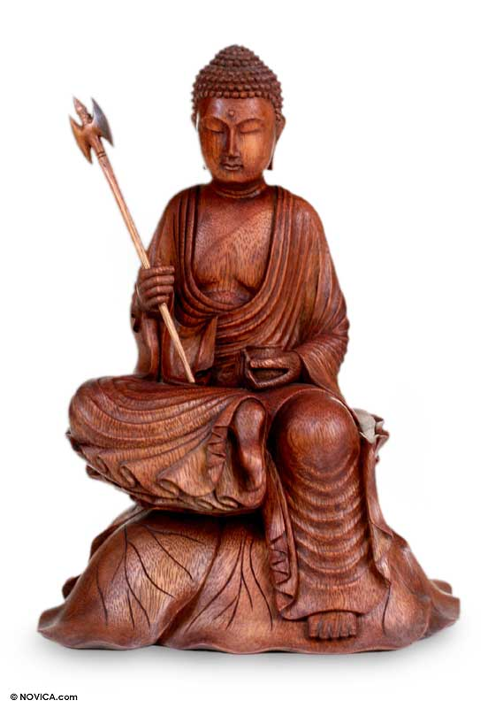 Wood Sculpture, 'Buddha's Journey'