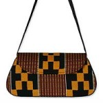 Cotton kente shoulder bag, 'Legacy'