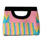 Cotton kente tote handbag, 'Pink Is Sweet'
