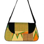 Cotton kente shoulder bag, 'Ashanti Prosperity'
