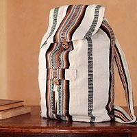 Alpaca blend backpack, 'Boho Stripes'