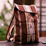 Alpaca blend backpack, 'Andean Lands'