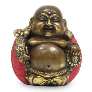 Bronze Buddha Statuette, 'Hotei Buddha'
