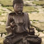 Wood statuette, 'Buddha the Teacher'