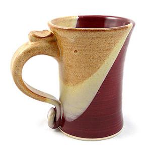 Handmade Stoneware Coffee Mug, 13-oz, Brown Glaze
