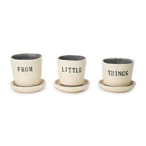 From Little Things Planters - Set of 3