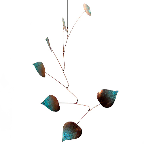 Copper Aspen Seven Leaf Mobile