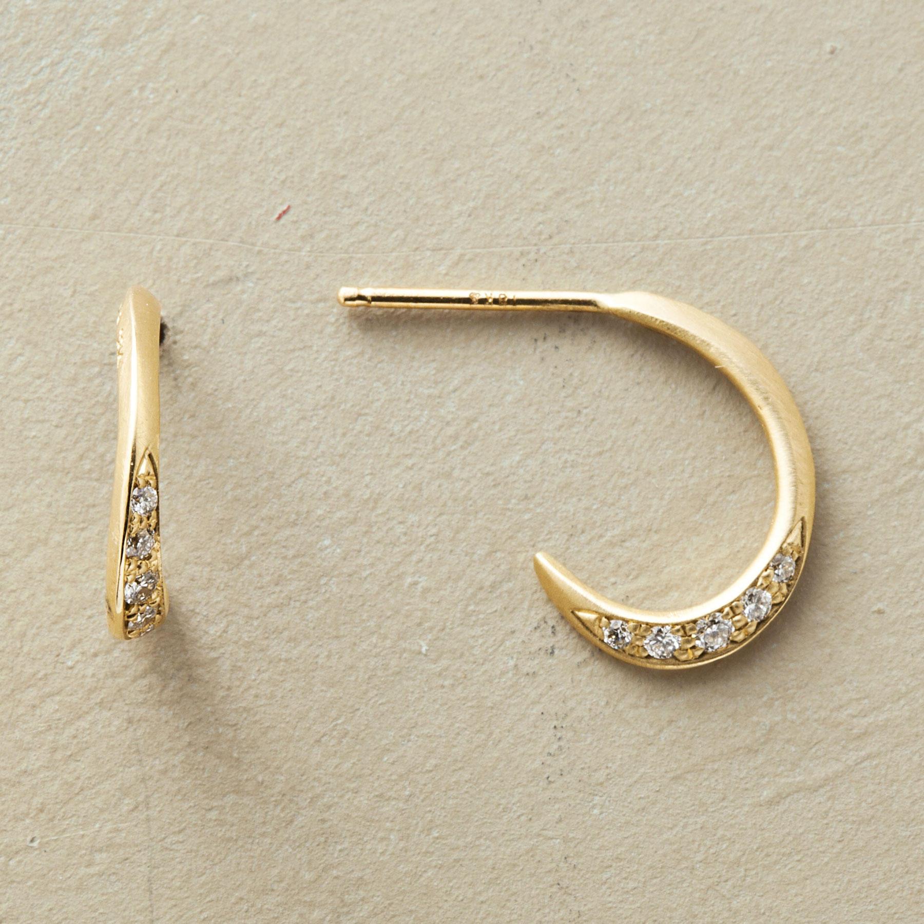 Diamond Quintet Hoop Earrings