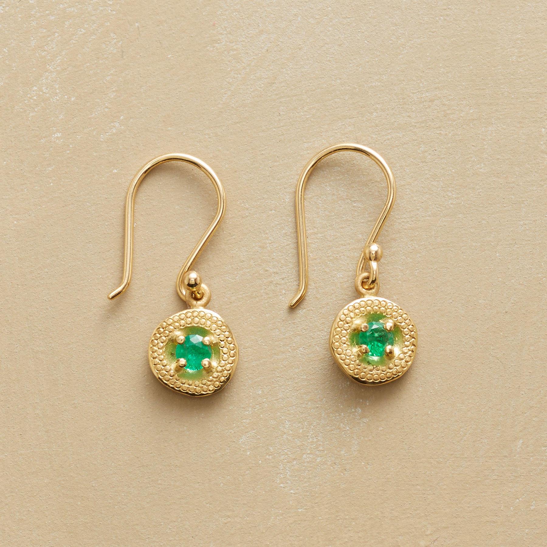 Dangling Emerald Earrings
